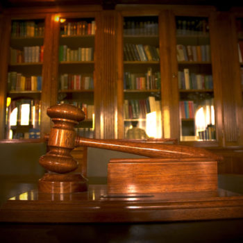 photo of Judge's gavel in the library